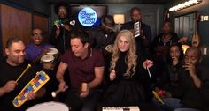 Jimmy Fallon, Meghan Trainor Celebrate Curves With Classroom Instruments