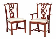 Cherry Chippendale Dining Chairs by Colonial Furniture (570) 374-8091