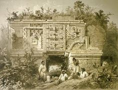 Uxmal as seen by Frederick Catherwood © Wikipedia Commons