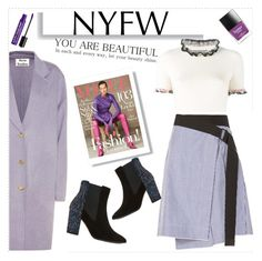 """""""nyfw"""" by nikitaku ❤ liked on Polyvore featuring Alexander McQueen, rag & bone, Acne Studios, Dune, Butter London and Charlotte Russe"""
