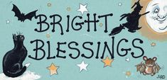 "Plastic Halloween Sign With Halloween decorations on and Reads ""Bright Blessings"". Gothic Halloween, Halloween Signs, Halloween Decorations, Hand Designs, Pagan, Blessed, Bright, Blessings, House Ideas"