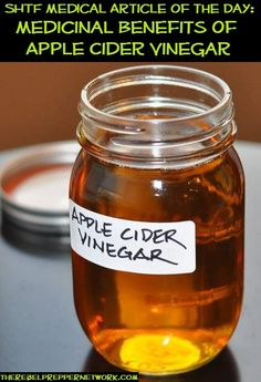 SHTF Medical Article of the Day: Medicinal Benefits of Apple Cider Vinegar