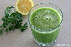 Parsley Lemon Cucumber Celery Smoothie Recipe