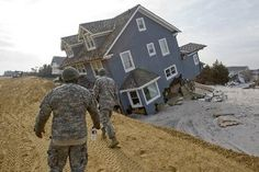 Hurricane Sandy Brick NJ | The checkpoints are decorated with things found in the wreckage. A ...