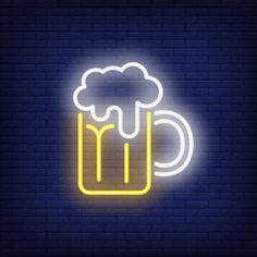 Beer mug with froth on brick background. Funny Phone Wallpaper, Neon Wallpaper, Black Wallpaper, Neon Bedroom, Neon Words, Neon Logo, Gaming Room Setup, Neon Aesthetic, Instagram Highlight Icons