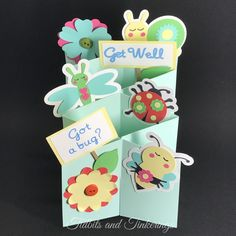 I probably had the most fun designing and decorating this cute little cascade card than I have any other card I've made to date. It...