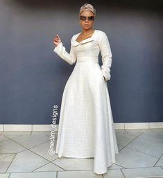 CODE ☎️ ✂️Number 2 of ☃️❄Winter Range❄☃️ African Maxi Dresses, African Wedding Dress, African Attire, African Wear, Unique Dresses, Beautiful Dresses, Modest Fashion, Fashion Outfits, New Look Fashion