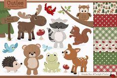 Adorable, Free Woodland Animals Clipart and Digital Papers by Amanda Ilkov | Download at blog.mandyartmarket.com