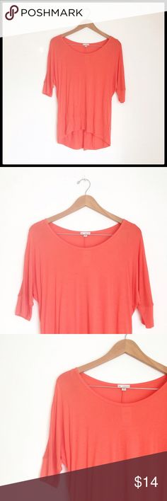 GAP Coral Tunic Beautiful Coral Tunic! NWT, great color just in time for spring/summer! ☀️ GAP Tops Tunics