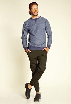 Cotton-Blend Chino Joggers & Vintage Fit Sweatshirt