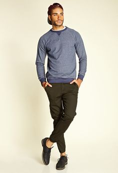Cotton-Blend Chino Joggers & Vintage Fit Sweatshirt