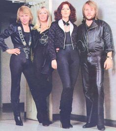 ABBA -incredibly talented, known for their wild outfits and kept all their clothes on.Not all musicians have the talent for that now.