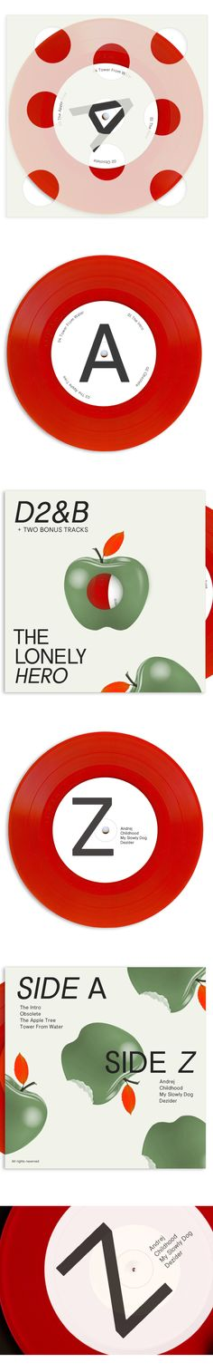 The Lonely Hero LP by Studio 123, via Behance