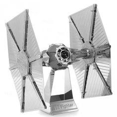 Star Wars Vader TIE Fighter - Photo-Etching Paslanmaz Çelikten Üretim Yetişkinler için Koleksiyonluk 3D-DIY Bulmaca Maketler - 571604 - 6