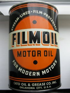 Filmoil oil can