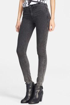 NWT rag & bone / Jean JUSTINE SKINNY High Rise 27 Rosebowl BLACK W1213O163 $198 #ragbone #SkinnyJeans