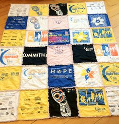 relay for life t shirt quilt! I'm going to do enough relays to make this someday!