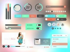 Kit de interfaz de usuario de diseño plano