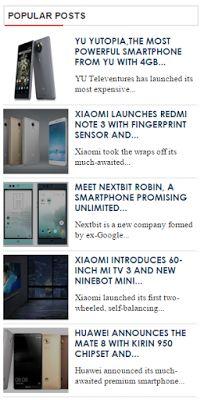 Premium Looking Popular Posts Widget For Blogger