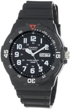 Casio Men's MRW200H-1BV Sport Analog Dive Watch - http://www.watchesandstuff.com/casio-mens-mrw200h-1bv-sport-analog-dive-watch/