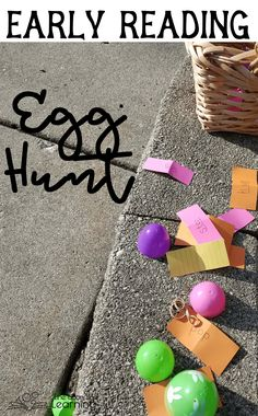 Practice early reading in a double gross motor egg hunt. (Search for eggs, and act out the words found inside! Word Family Activities, Spelling Activities, Art Activities For Kids, Literacy Activities, Reading Activities, Reading Eggs, Early Reading, Homeschool Blogs, Homeschool Kindergarten