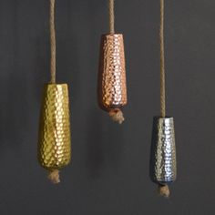 Metallic Copper Gold And Silver Bathroom Light Pull