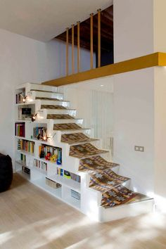 Apartement Makeover With Simple Stairs Interior Design