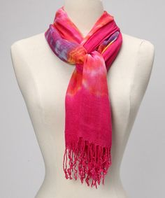 Take a look at this Hot Pink Kaleidoscope Scarf by Red Carpet Scarves on #zulily today!