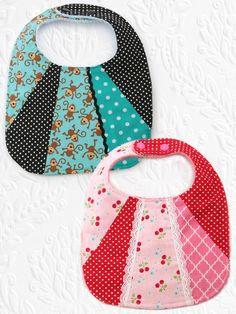 (BIB3) - Patchwork Bib Sewing Pattern - Set of 2
