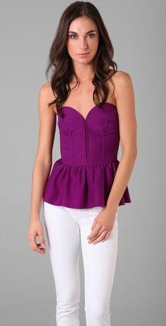 purple top with sweetheart shape bodice- ariel