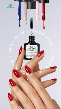 CND Shellac Wear Extender Base Coat offers 3 weeks wear and extends the wear of gel polish while smoothing imperfections and ridges when used as directed. Shellac Wear Extender Base Coat creates an even nail surface for easy application while improving the nail appearance. Easy 10-minute removal when used with Xpress top coat. Features a new curve hugging brush that have 200  bristles that adapt to the nail for better coverage and application. Makeup Must Haves, Beauty Must Haves, Base Coat, Top Coat, Mani Pedi, Manicure And Pedicure, Salon Quotes, Brow Wax, Wax Hair Removal