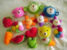 Start collecting today my handmade crochet keyrings/keychains at  www.amydesign.org