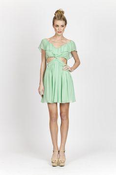 Ginny Dress Mint cutouts #ellelauri