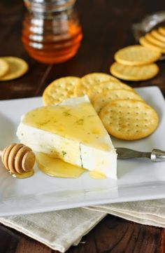 Blue Cheese with Honey Drizzle ~ a truly simple appetizer, and simply delicious.   www.thekitchenismyplayground.com