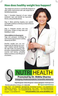 Dr. Shikha Sharma Nutri-Health Systems, has been actively working on weight management and lifestyle disorders. We have always believed in natural ways of achieving health.nutri,weight loss, fat loss, fitness center, weight loss clinic, diabetic cent Start Burning Fat now, by eating the Right kinds of Food and Cut Out the 5 Foods never to eat.