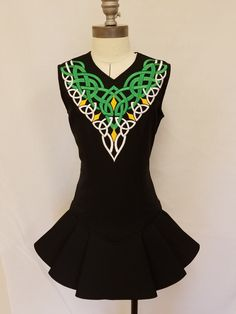 Irish dance team dress. Irish dance school dress by Prime Dress Designs. Fitzgerald Irish Dance
