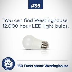 That's a lot of weeks of not changing a light bulb. Bulbs, Light Bulb, Facts, Led, Lighting, Tips, Lightbulbs, Bulb, Light Globes