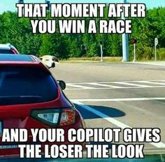 Find and save winning a race Memes Car Jokes, Funny Car Memes, Crazy Funny Memes, Car Humor, Really Funny Memes, Wtf Funny, Funny Laugh, Funny Relatable Memes, Truck Memes