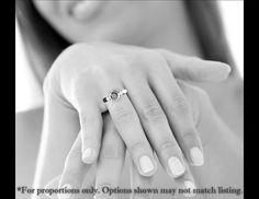 Granato anello di fidanzamento oro bianco di GoldandSilverCo