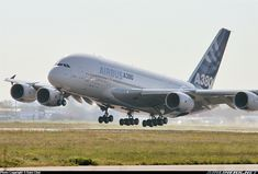 Airbus A380-841 A truly historic moment, on this day, 10:29am 32 seconds, the A380 first airborne! A new era of commercial aviation has arrived. It was an unforgettable moment seeing her lift up from the ground! This photo dedicate to all the Airbus employee, and local Toulouse spotter.