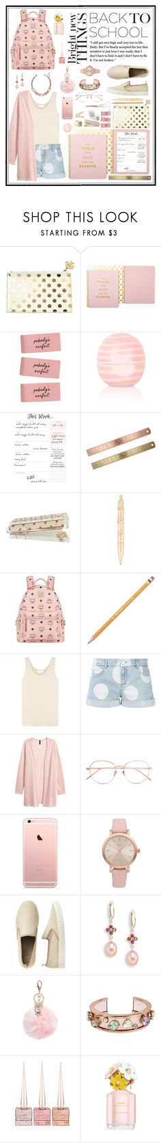 """Outfit #164"" by emydeishly ❤ liked on Polyvore featuring Kate Spade, Eos, MCM, Paper Mate, Chloé, STELLA McCARTNEY, H&M, Linda Farrow, Vivani and Gap"
