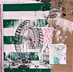 1 Año de Colllage feliz ::: Sellos. Collage. Art Journal. Mix Media. Rosa Verdosa