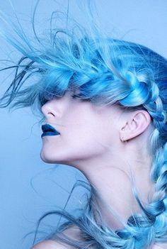 Die 16 Besten Bilder Auf Blaue Haare In 2017 Blue Hair Haircolor