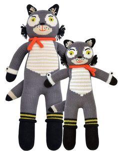 Beauregard the wolf Knit Dolls