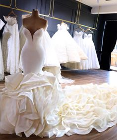 Luxury 2019 Ruffles Wave Organza Wedding Dresses Sweetheart Chapel Train Gorgeous Bridal Gowns Nigerian Arabic Marriage Dress Robe De Mariee One Shoul. Wedding Dress Organza, Sweetheart Wedding Dress, Dream Wedding Dresses, Bridal Dresses, One Shoulder Wedding Dress, Bridesmaid Dresses, Mermaid Gown Wedding, Maxi Dresses, Dramatic Wedding Dresses
