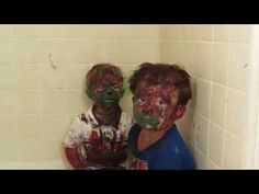 Kids play with paint