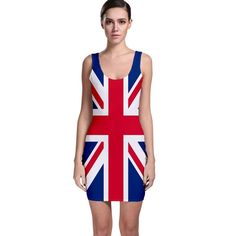 Union Jack Bodycon Mini Dress Ginger Spice Geri Halliwell Dress #Unbranded…