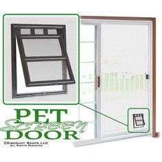 Pet flap for patio screen doors, storm screen doors, and window screens. Provides instant indoor or outdoor access for pets. Automatically closes between use!