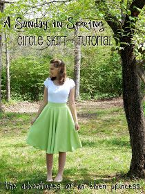 A Sunday in Spring Circle Skirt   Tutorial