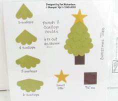 Tree punch art ~ just in time for Christmas! Scrapbook Paper Crafts, Scrapbooking, Scrapbook Cards, Paper Punch Art, Punch Art Cards, Christmas Punch, Owl Punch, Christmas Cards, Christmas Tree